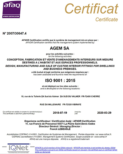 Certification ISO 2019 smal